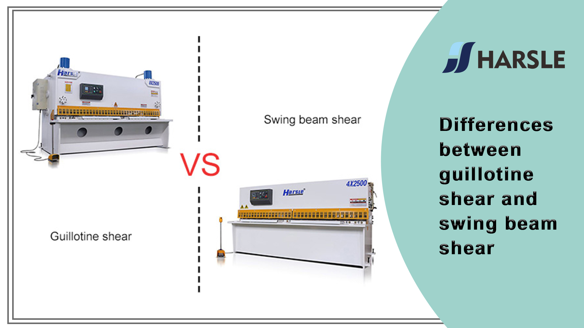 Differences between guillotine shear and swing beam shear