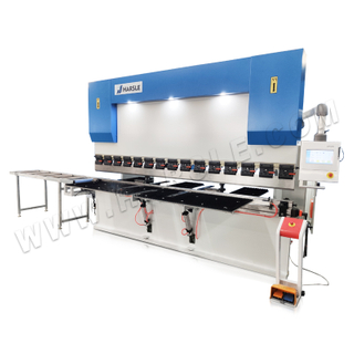 WC67K-100T/3200 Automatic Cable Tray Bending Machine with TP10S, CNC Press Brake for Cable Bridge Production Line