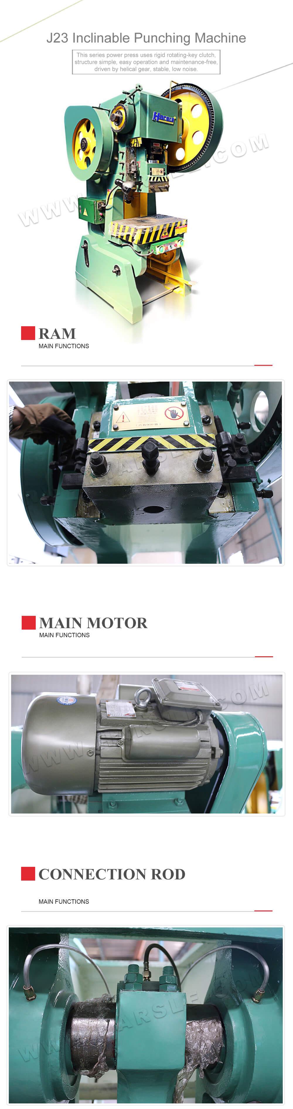 Sheet metal punch press machine, J23-160T hydraulic hole punch