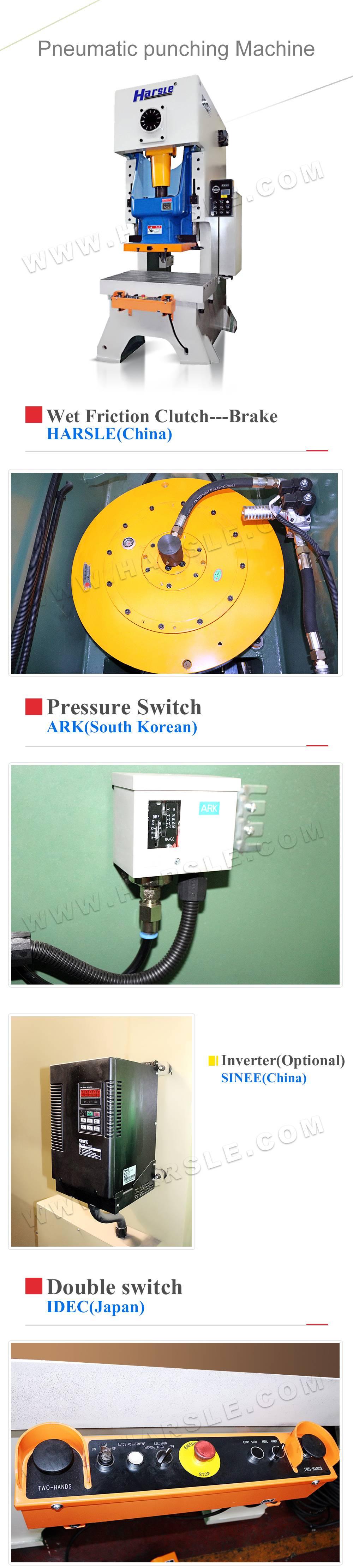 JH21-80T pneumatic punch press machine, sheet metal punch press