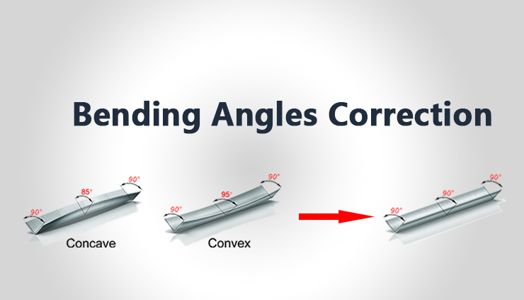 Trouble shooting- How to correct the bending angles on one line for NC press brake machine